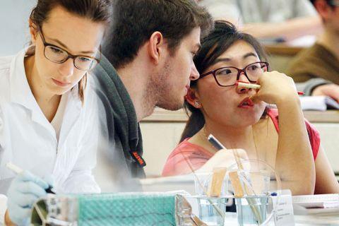Gute Lehre und Forschung bedingen sich einander. Fotos: Kreutzmann, Möldner