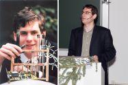 Ende der 1990er Jahre gewann Eike Hübner (links) zwei Mal den Bundeswettbewerb von Jugend forscht (Kategorie Chemie), rund 15 Jahre später moderierte er als Clausthaler Professor die Weihnachtsvorlesung. Fotos: Jugend forscht, Ernst
