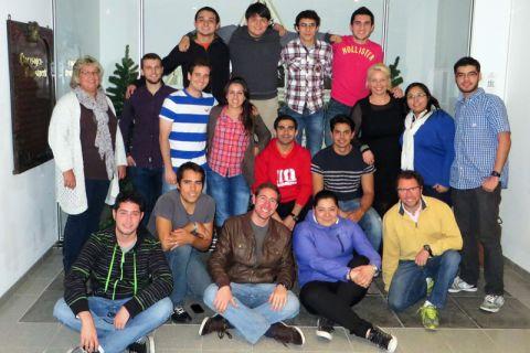 Die Studierenden aus Mexiko zusammen mit Beschäftigten des Internationalen Zentrums Clausthal. Foto: IZC
