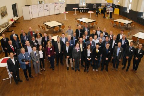 Die Teilnehmerinnen und Teilnehmer des Messtechnischen Symposiums in der Aula der TU Clausthal. Foto: Institut