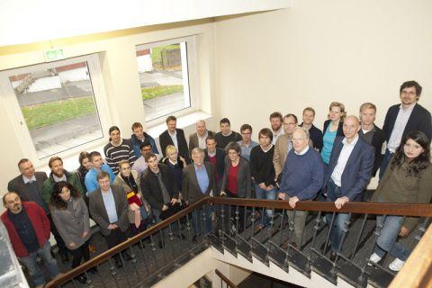 Tauschten sich über neue Projekte im Bereich der Simulationswissenschaft aus: die Teilnehmerinnen und Teilnehmer des zweiten SWZ-Workshops. Foto: Ernst