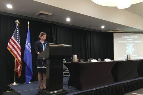 Dr. Elisabeth Clausen wurde in Washington durch die Society of Mining Professors für ihre innovativen Konzepte in der Lehre ausgezeichnet. Foto: SMP