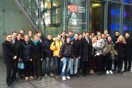 Die Clausthaler Delegation vor der Konzernzentrale der Deutschen Bahn in Berlin. Foto: Institut