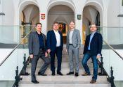 Das Präsidium der TU Clausthal (von links): die Professoren Wolfgang Pfau, Joachim Schachtner, Alfons Esderts und Gunther Brenner. Foto: Ernst