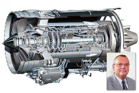 Woraus besteht das Flugzeugtriebwerk von morgen? Dieser Frage gehen Professor Lothar Wagner (kl. Bild) und seine Mitarbeiter am Institut für Werkstoffkunde und Werkstofftechnik nach. (Grafik: Rolls-Royce)
