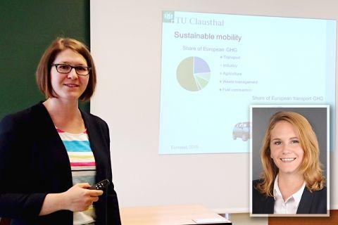 Die Ingenieurinnen Dr. Christine Minke und Eglantine Kunle (kleines Bild) forschen auf dem Gebiet der nachhaltigen Mobilität. Fotos: Institut, privat