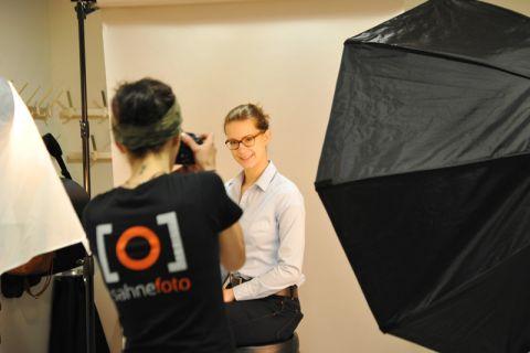 Das Bewerbungsfoto-Shooting im Rahmen der Clausthaler Karrieremesse wurde im vergangenen Jahr von vielen Studierenden genutzt. Foto: Ernst