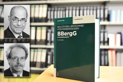 Professor Gunther Kühne (oben) und Rechtsanwalt Hans-Ulrich von Mäßenhausen haben jetzt die 2. Auflage des Standardkommentars zum Bundesberggesetz herausgegeben. Foto: Ernst