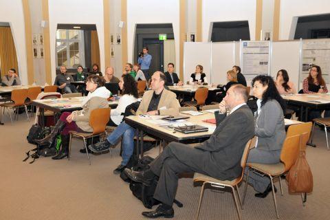 Internationaler Workshop: Arbeitsatmosphäre im Kuppelsaal der Clausthaler Aula. Foto: Ernst
