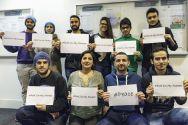 Statement für ein friedliches Miteinander: Muslime im Internationalen Zentrum Clausthal. Foto: Astrid Abel