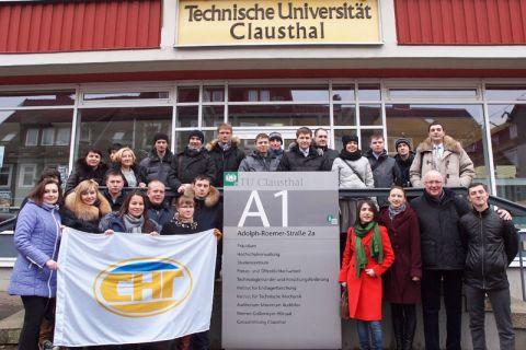 Junge Fach- und Führungskräfte aus dem westlichen Sibirien besuchten die TU Clausthal. Foto: Ernst