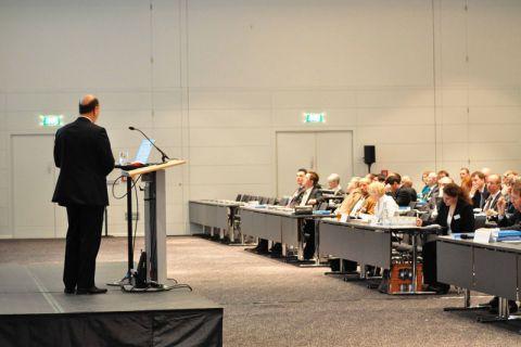 Zur Recyclingkonferenz kamen Experten aus Deutschland, Europa und den USA in einem Tagungshotel in Berlin zusammen.