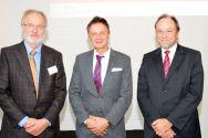 Während der Pumpspeicher-Tagung in Goslar (von links): Professor Wolfgang Busch, Michael Lindenthal vom Niedersächsischen Ministerium für Umwelt, Energie und Klimaschutz und Professor Thomas Hanschke. Foto: EFZN
