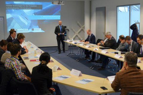Interesse an faserverstärkten Kunststoffen: Mehr als ein Dutzend Unternehmen beteiligten sich am 1. Industrieworkshop im Forschungszentrum CFK Nord in Stade. Foto: Fix