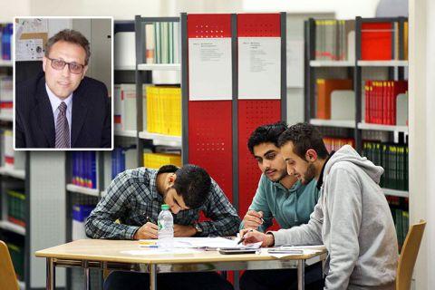 Professor Alfred Weber (kleines Bild) ist an der TU Clausthal Ombudsmann für internationale Studierende. Fotos: Möldner, Institut