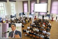 Auf der Konferenz Mining 2018 stellte die Abteilung von Professor Hossein Tudeshki (kleines Bild) ihre Forschungsergebnisse und Neuentwicklungen vor. Fotos: Ernst