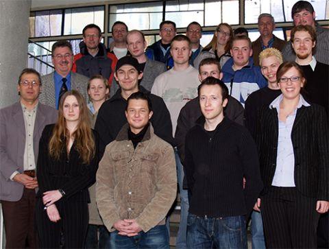 Feierten den Abschluss ihrer Ausbildung am 1. Februar: Azubis der TU Clausthal