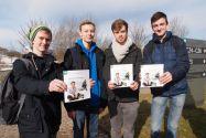 Studieren in Clausthal: Dafür interessierten sich vier Schüler des Christian-von-Dohm-Gymnasiums aus Goslar, besuchten die Uni im Oberharz und nahmen sich die neu aufgelegte Broschüre mit. Foto: Ernst