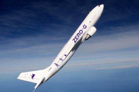 Bei einem Parabelflug wird die Schwerelosigkeit simuliert – dies wird zum Beispiel für wissenschaftliche Zwecke in der Forschung genutzt. Foto: DLR/Novespace