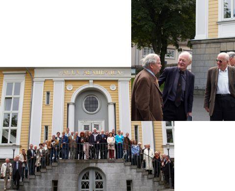 Besuchten im Rahmen ihrer Jahrestagung die TU-Clausthal: Der Geschichtsausschuss des Düsseldorfer Stahlinstituts VDEh.
