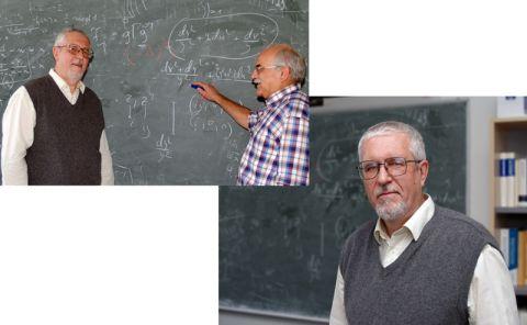 Forschen in den nächsten zwei Jahren zusammen zu automorphen Funktionen (v.l. u. Bild re.): Humboldt-Preisträger Prof. Dr. Alexei Venkov und der Clausthaler Mathematische Physiker Prof. Dr. Dieter Mayer.
