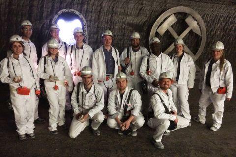Clausthaler Studierende fuhren in das Kalibergwerk Werra ein.
