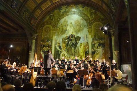 Früherer Auftritt des Kammerchors an der TU Clausthal in der Kaiserpfalz in Goslar. Foto: Kurth