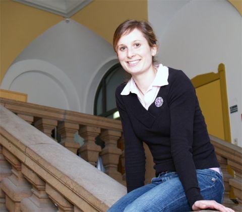 Diskutierte zusammen mit internationalen Studierenden und Staatsoberhäuptern auf dem Präsidententreffen: Hana Zichová von der TU Clausthal.