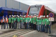 Clausthaler Studierende bei der Werksbesichtigung eines Bahntechnikherstellers in Salzgitter. Foto: IMAB
