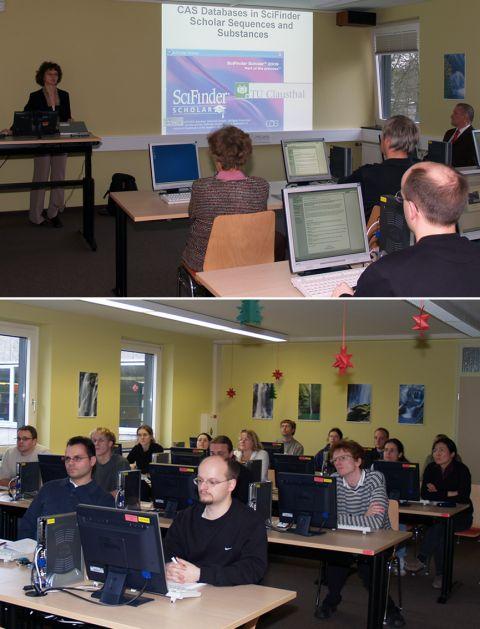 Präsentation Frau Dr. Karin Färber im neuen Multifunktionalen Computerarbeitsraum