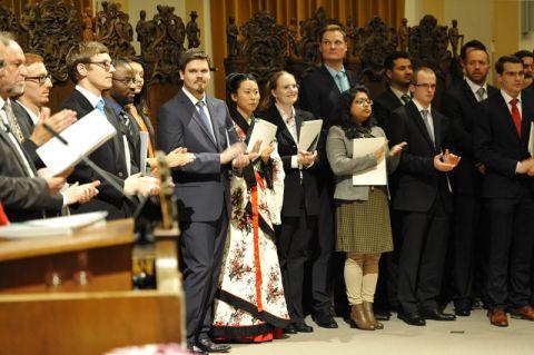 International ging es zu bei der Vergabe der Zeugnisse an die Absolventinnen und Absolventen der TU Clausthal. Foto: Ernst