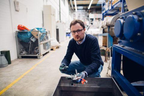 Brachte das Clausthaler Start-up FiLOS materials GmbH und die Robert-Bosch-Niederlassung in Göttingen zusammen: Matthias Hoffmann, Koordinator der TU Clausthal im Projekt Recycling 2.0. Foto: Kreutzmann