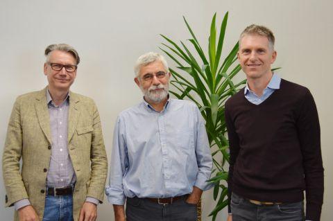Der neue Vorstand des Clausthaler Energie-Forschungszentrums (von links): die Professoren Thomas Turek, Wolfgang Schade (Vorsitzender) und Leonhard Ganzer. Foto: Diana Schneider