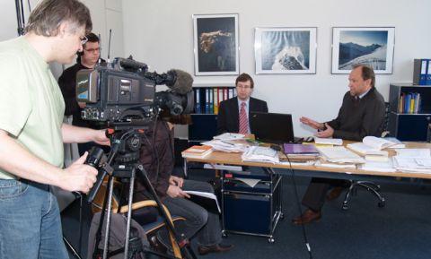 Ein ZDF-Team drehte Anfang April an der TU Clausthal mit Professor Thomas Hanschke.