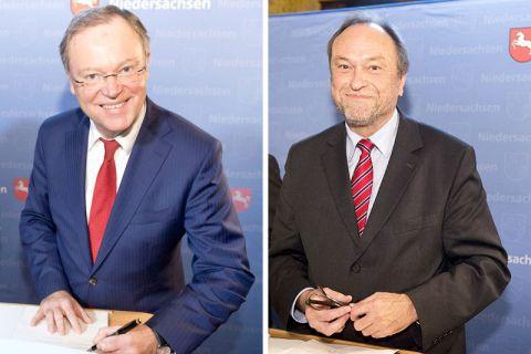 Noch bis zum 28. November in Russland: Niedersachsens Ministerpräsident Stephan Weil (l.)  und der Clausthaler Universitätspräsident Professor Thomas Hanschke. Fotos: MWK